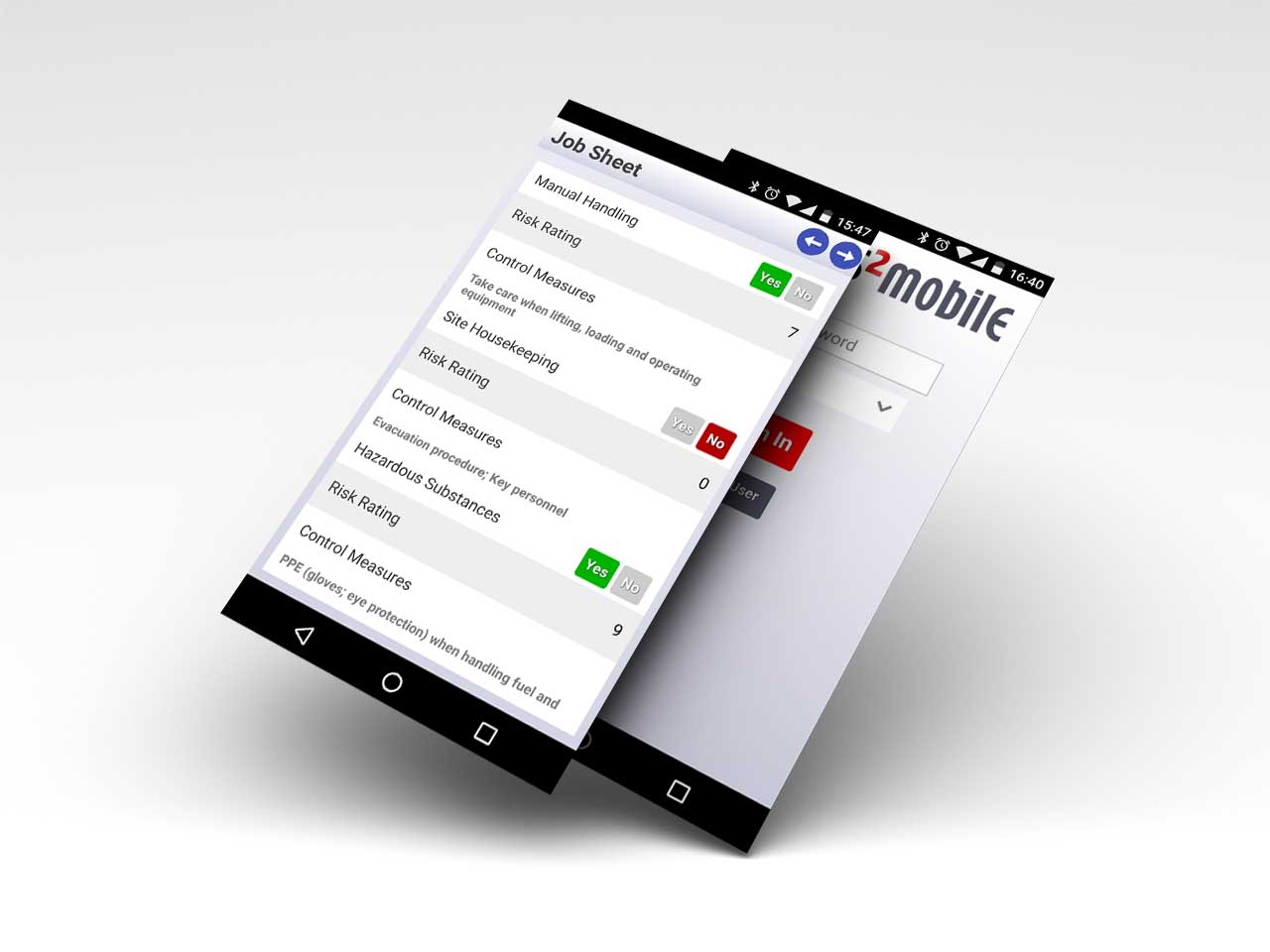 Send tasks to workers in field services to complete mobile forms