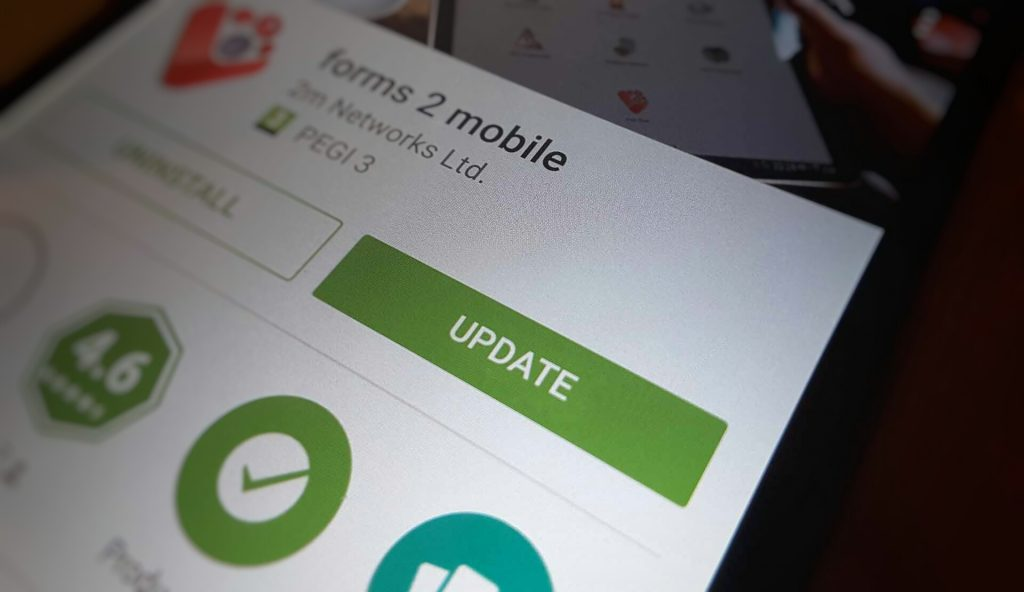 forms 2 mobile app update